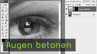 Calvin Hollywood Photoshop Augen betonen, Portrait retuschieren Photoshop