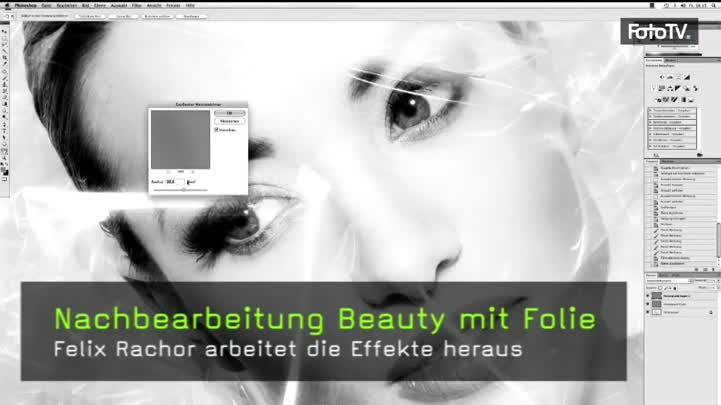 Nachbearbeitung Beauty mit Folie