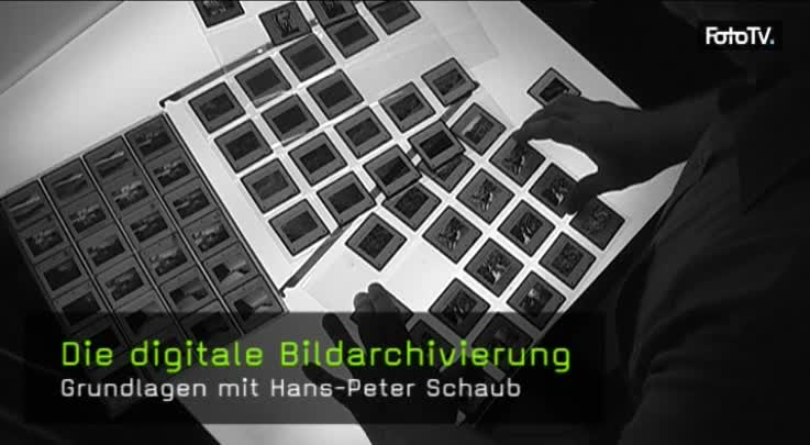 Hans-Peter Schaub, Analog, Digital, Archivierung, Negative, Datenbank