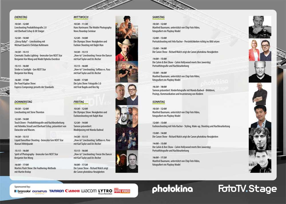 Download Programmflyer photokina FotoTV. stage
