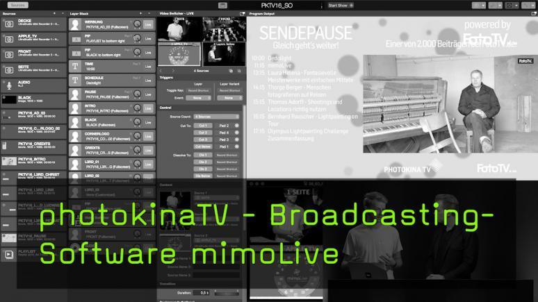 Broadcastingsoftware mimoLive