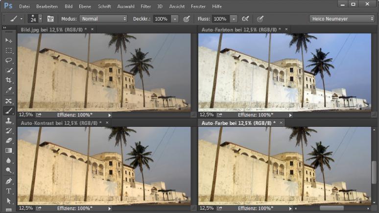 Die Automatischen Kontrastkorrekturen in Photoshop und PS Elements