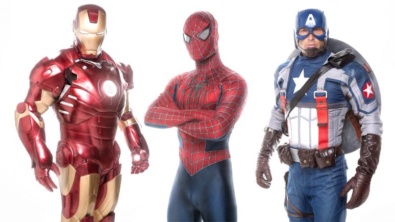 Avengers Team Live bei der FotoTV. Superhelden Challenge