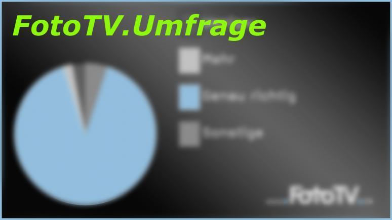 FotoTV Umfrae zur Webseite