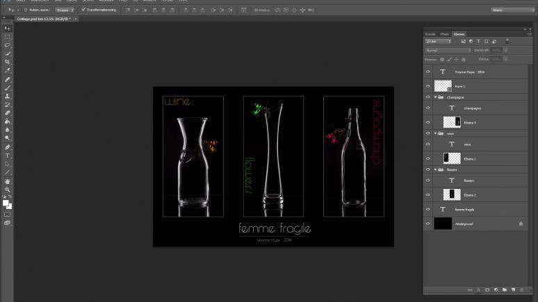 Die Bildbearbeitung - femme fragile