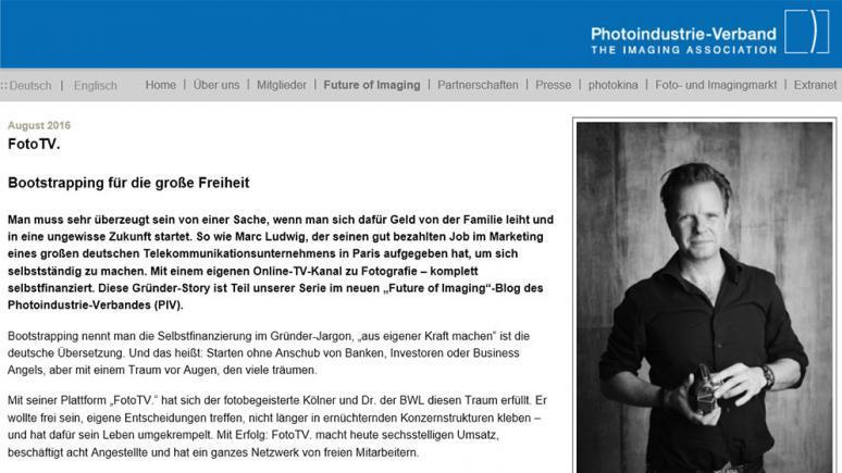 Blogartikel zur Gründung von FotoTV.