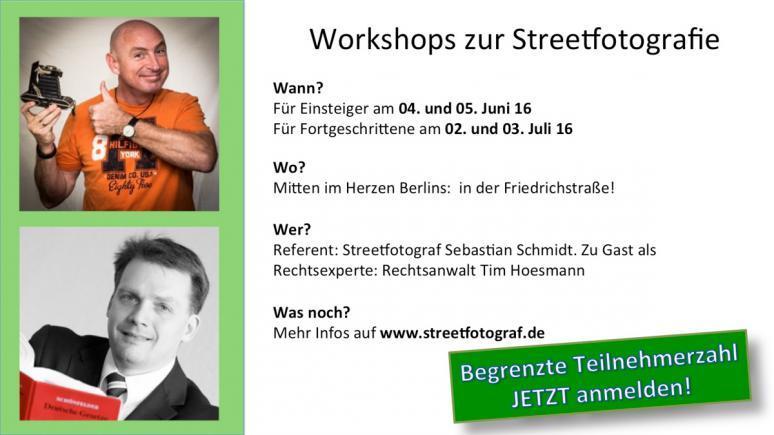 Streetfotografie-Workshop mit Sebastian Schmidt