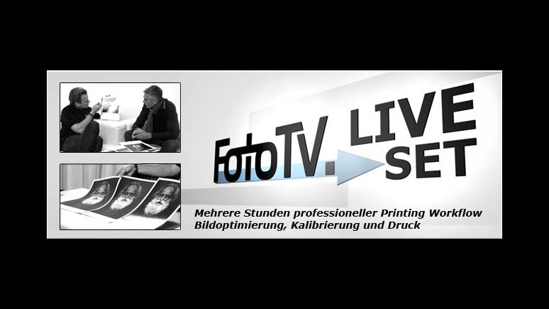 FotoTV.Liveset zum Thema Drucken im Online-Shop erwerben