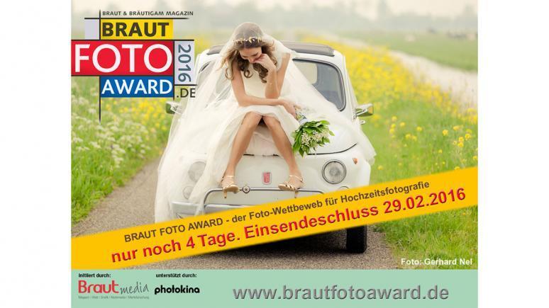 Braut Foto Award - noch bis zum 29.02. Fotos einsenden