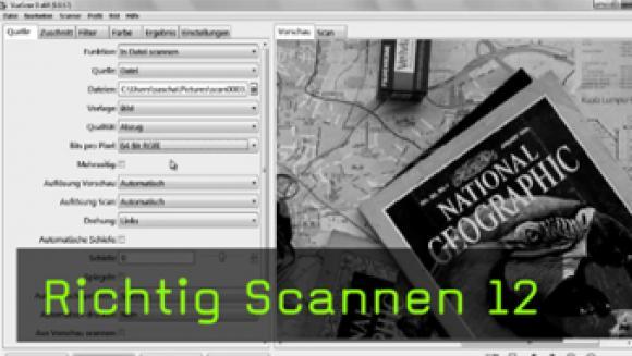 RAWs scannen, PNG scannen