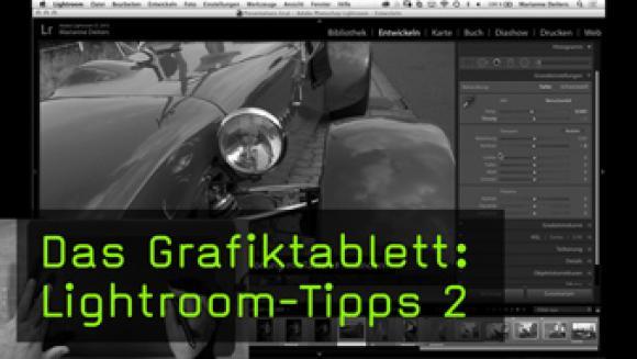 Lightroom mit dem Grafiktablett bedienen