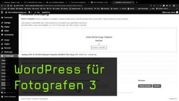 Demo-Webseite mittels WordPress-Backup-Datei einspielen