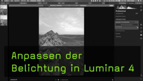 Belichtung anpassen in Luminar 4