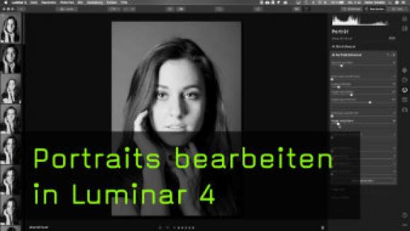 Portraitretusche in Luminar 4