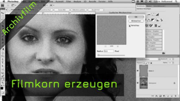Calvin Hollywood Photoshop Füllmethoden und Filmkorn erzeugen