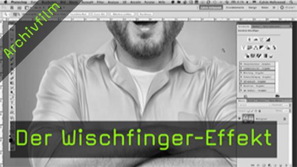 Calvin Hollywood Photoshop Wischfinger
