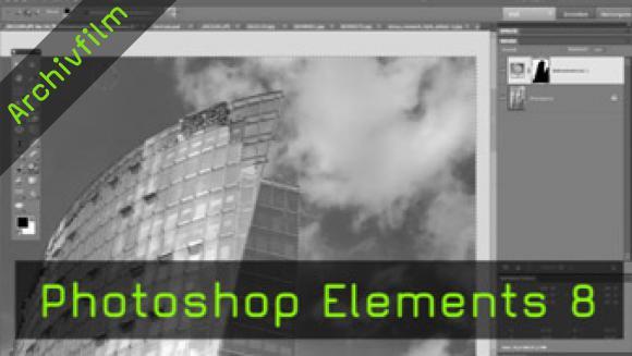 Photoshop Elements 8, Smart Pinsel, Neu-zusammensetzen-Werkzeug