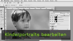 Karma Kalender, Kinderprotrait, Photoshop, Retusche