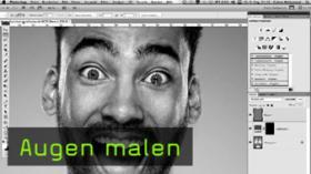 Calvin Hollywood Augen aufhellen, Photoshop Weichzeichner