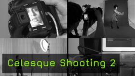 Editorial Fashion-Shooting Celesque Lichtaufbau Kamera Digital Operator