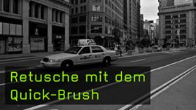 Retusche mit dem Quick-Brush