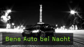 Autofotografie einfache Mittel bei Nacht