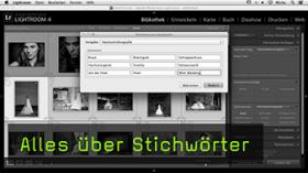 Stichwörter in Lightroom 4