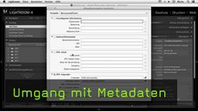 Metadaten in Lightroom 4