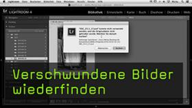 Bilder wiederfinden in Lightroom