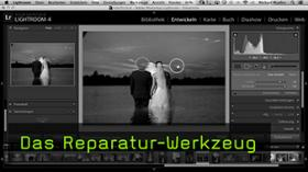 Bereichsreparatur in Lightroom