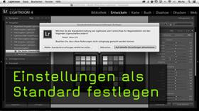 Standardeinstellungen in Lightroom ändern