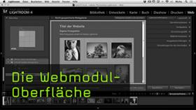 Webmodul in Lightroom
