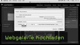 Webgalerie hochladen