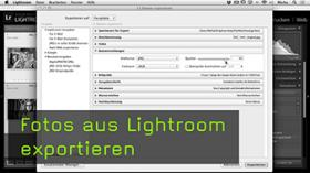 Bildexport in Lightroom