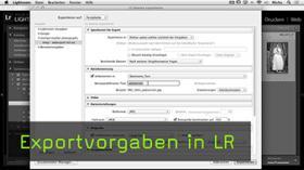 Exportvorgaben in  LR erstellen