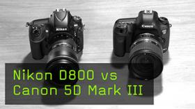 Nikon D800 vs Canon 5D Mark III