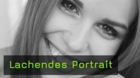 Lachende Portraits fotografieren, Model Lachen