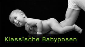 Klassische Babyposen