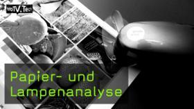 Papier- und Lampenanalyse mittels Spektrophotometer