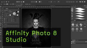 Affinity Photo Studio , Arbeitspaletten, Anpassungen