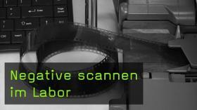 Negative scannen im Labor