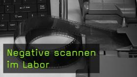 Negative scannen im Labor