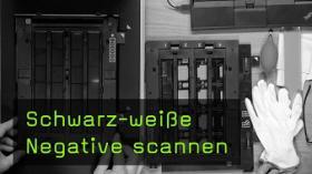 Schwarz-weiße Negative scannen