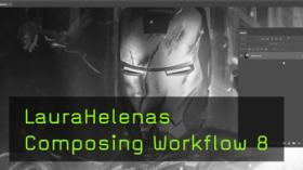 Composing Workflow von Laura Helena, Iron Man, Ölfarbe Filter, Comiclook