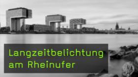 Langzeitbelichtung am Rheinufer