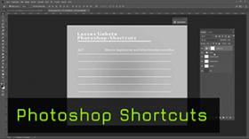 Tastaturkürzel in Photoshop