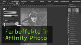 Farbeffekte in Affinity Photo mit Mischmodus Ausschluss