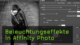 Beleuchtungseffekte in Affinity Photo