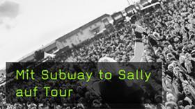 Subway to Sally mit der Kamera begleitet