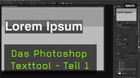 In Photoshop Texte biegen und verzerren